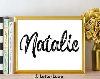 Natalie Name Art - Printable Gallery Wall - Living Room Printable - Digital Print - Bedroom Decor - Last Minute Gift for Mom or Girlfriend