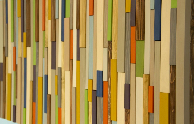 Wood Wall Art, Modern wood art, reclaimed 3D wood sculpture, Mid ...