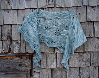 With the Tide Crescent Shawl Knitting Pattern