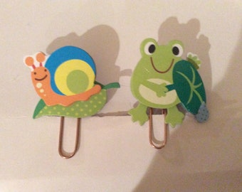 Super cute colorful colorful critter paperclips //  in sets as seen in picture