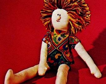 Hippie Friend Doll Vintage Sewing Pattern Instant Download