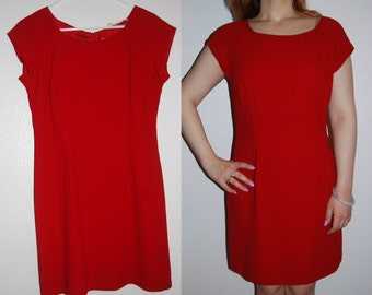 Lady in Red Wiggle Dress