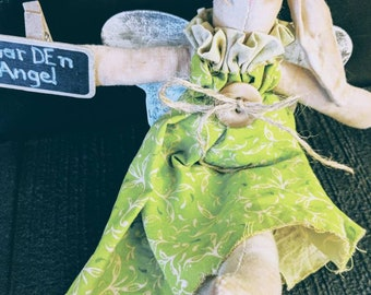 GarDen Bunny Angel  Doll