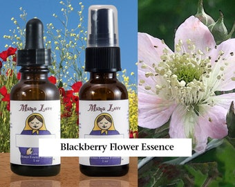 Blackberry Flower Essence, 1 oz Dropper or Spray for Putting Your Ideas into Action