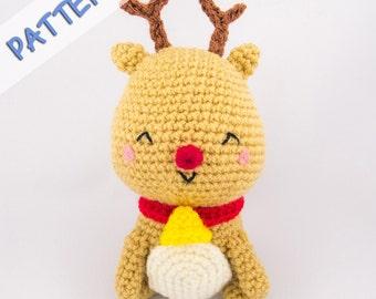 Amigurumi Reindeer Pattern - Reindeer Crochet Pattern - Christmas Reindeer Pattern - Holiday Crochet Pattern - Jingle the Reindeer