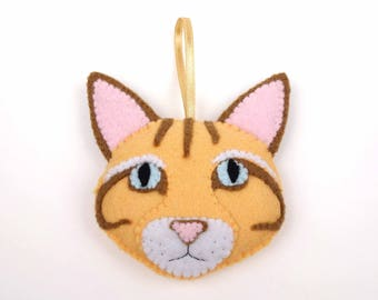 Felt Cat Ornament - Ginger Cat