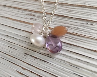 Fertility Stone Necklace, Fertility Gemstone Necklace, Fertility Stones, Healing Stones, Healing Gemstone, Pregnancy Stone, Gemstone Jewelry