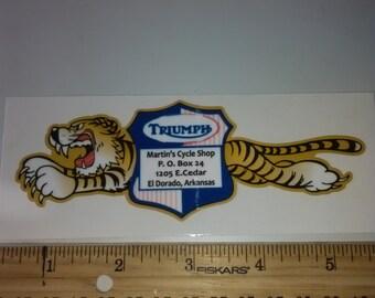 triumph tiger dealer decal