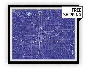 Atlanta Map Print - Any Color You Like