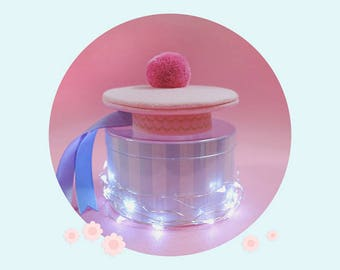 for Middie Blythe, sweet beret - pink