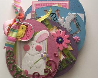 Easter Egg Mini Album --  Easter Gift, Scrapbook Album