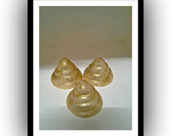 Gold Poo Shaped soap