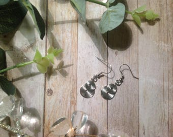 Silver Spiral Layered Earrings
