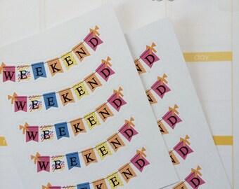 Weekend Planner Stickers Fits Erin Condren Life Planner Stickers Weekend Tracker Stickers Functional Stickers Weekend Stickers