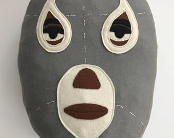 "Mexican wrestler Cushion/Luka The Pau/""El Santo"" cushion"