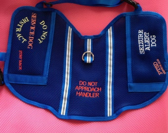 Cape Style Handmade Service Dog In Training Vest 3d Air Mesh