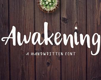 Awakening Handwritten Font