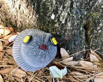 Pallas sock owl -Ready to ship!