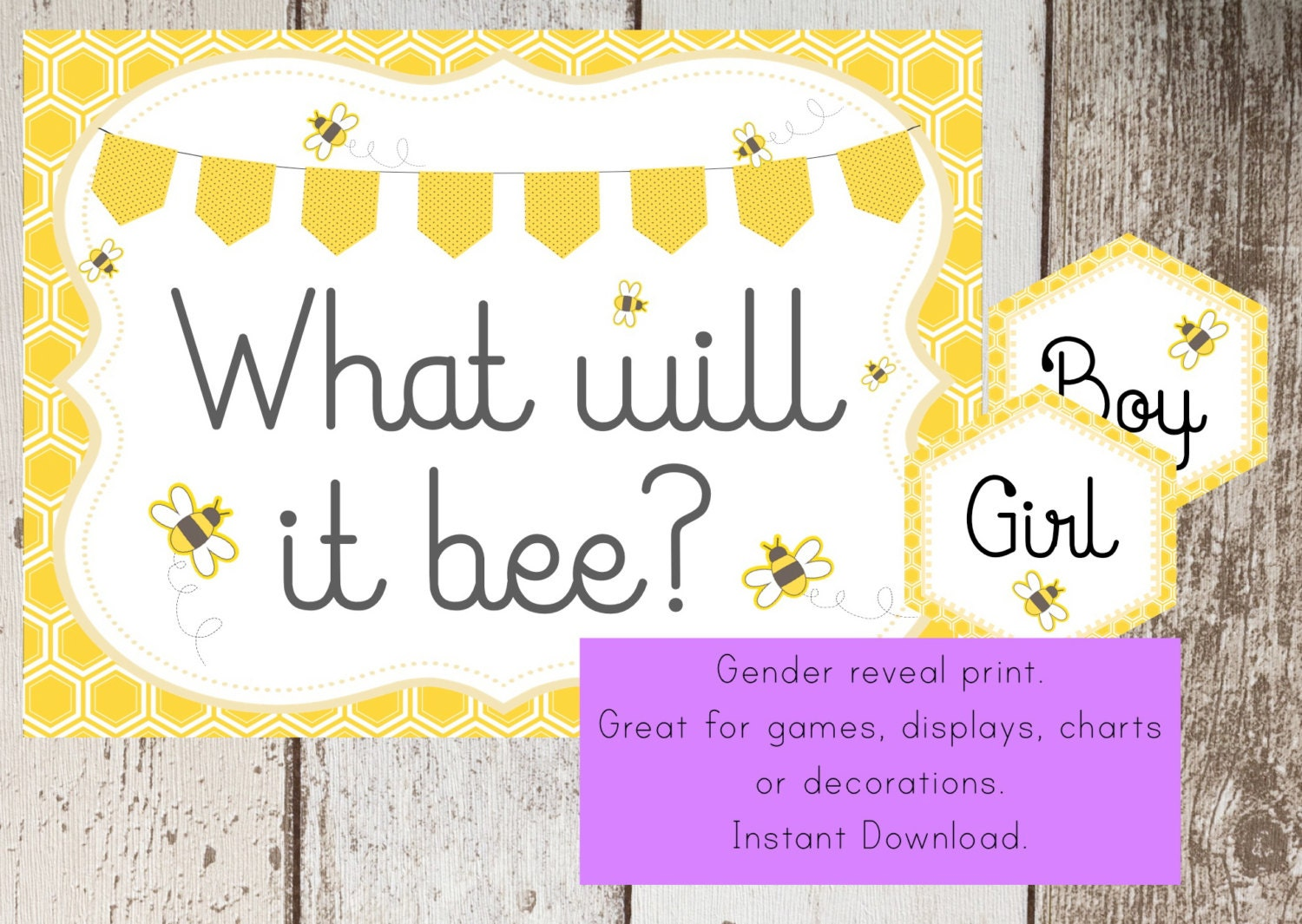 Bumble Bee Baby Shower Printable Sign