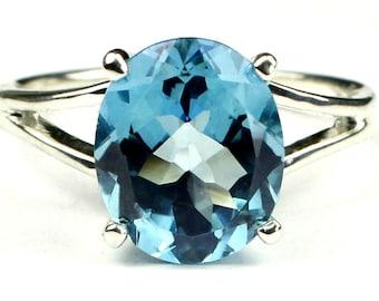 Swiss Blue Topaz, 925 Sterling Silver Ring, SR132