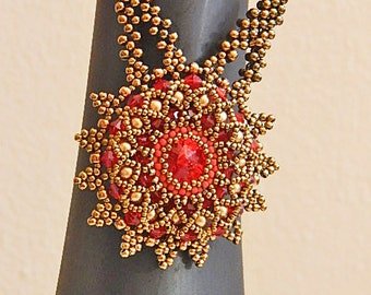 Red Sun Necklace