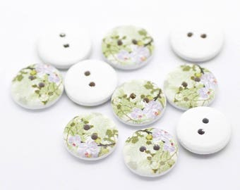 8 buttons in varnished wood pattern sheets