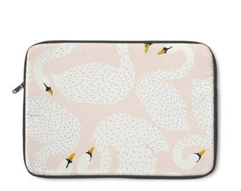 Swan Laptop Sleeve, MacBook Case, Laptop Case, Carry Case, Laptop Bag