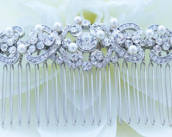 Bridal Hair comb with Fresh water pearls wedding hair comb,wedding Hair accesories,pearl Bridal Comb,Crystal wedding comb,bridal hair piece