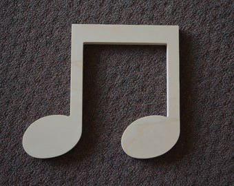 Wooden Shape Music Notes, Wooden Music Notes, Music Note Cut Out, Wall Decor, Kids Room Decor, Wall Art, Music Room Decor