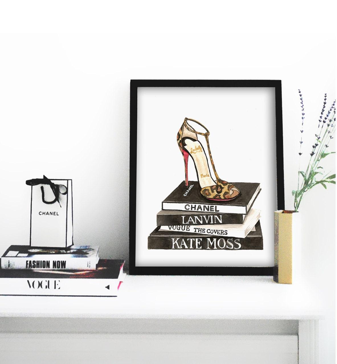 Fashion Wall Art Amusing Louboutin Shoes Poster Printable File Louboutin Print 2018