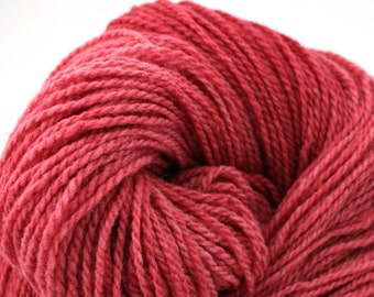Mohonk Hand Dyed sport weight NYS Wool 370 yds 4oz Rosy