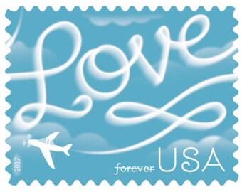 Skywriting Love US Postage (20) - NEW - Full Sheet