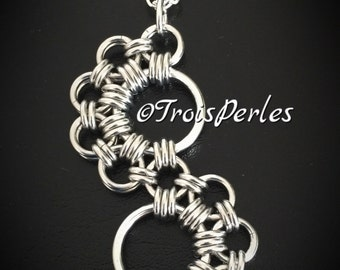 Chain Maille Pendant - Chainmaille Necklace