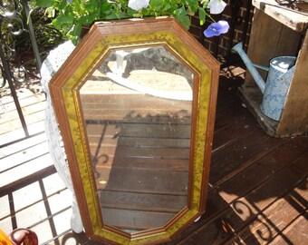 Vintage Home Decor Mirrors/Vintage Mirrors/Vintage Mirrors/1960's Mirror/WallHanging Mirror/Vintage/Rustic/Octagon Shaped Mirror/Furniture
