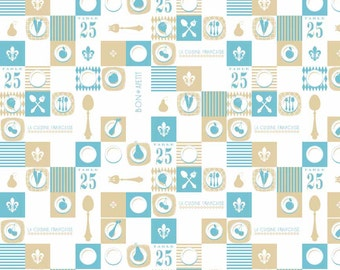 Ooh La La Plate Aqua- by Riley Blake Designs - you choose the cut