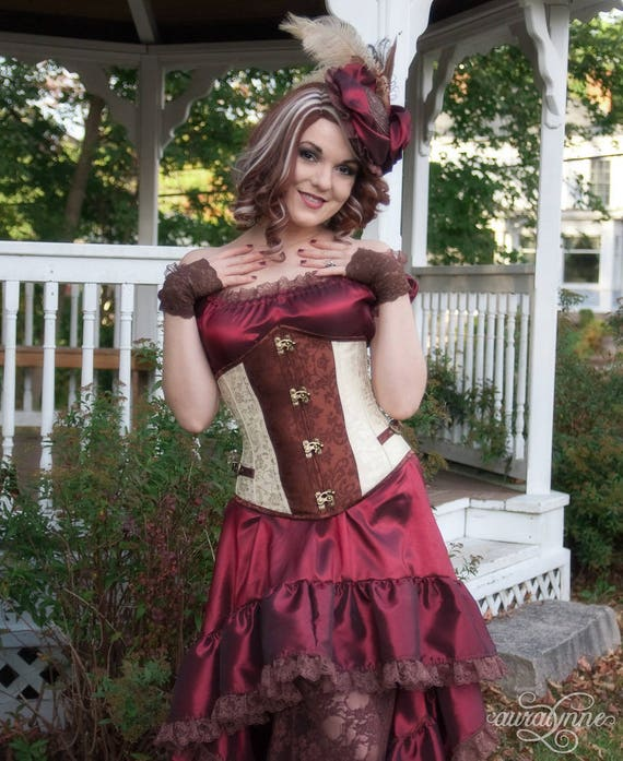 Gothic Shoulder Corset Summer Dress Off Dress Outfit High Tea Steampunk Low Bohemian Dreams Burgundy Dress Gowns Party Dresses 4OfFRqW