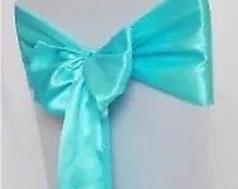 T Blue Satin Chair Sashes Chair Bows Ribbon for Chair Wedding Engagement Reception Ceremony Function Bouquet Christening Baptism Decoration