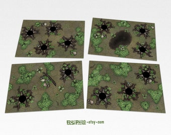 Tabletop RPG Forest Hex Grid Terrain Tiles Set #1