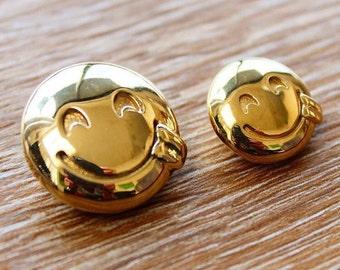 3D Goofy Emoji Pendant, Goofy Emoji Jewelry, Goofy Face Emoji Jewelry, Emoji Jewelry, 24k Gold Emoji Pendant