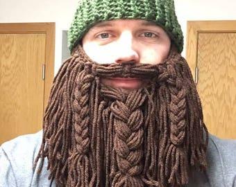 Crochet Lumber jack beard hat