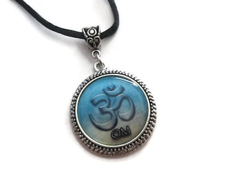 Spiritual Necklace, OM Pendant Necklace, Reiki Necklace, Yoga Necklace, OHM Spiritual Jewelry, Aromatherapy Diffuser Jewelry, Unique Gifts