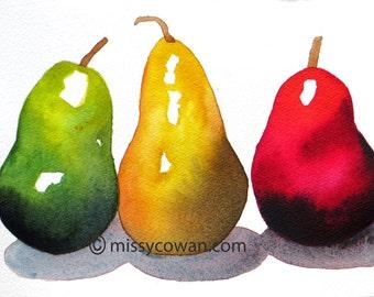TRIO - Original Watercolor Painting