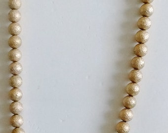 Frosted Golden Bead Necklace