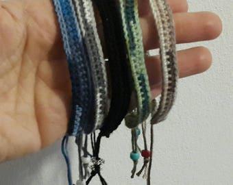 Men's Crochet band Bracelets