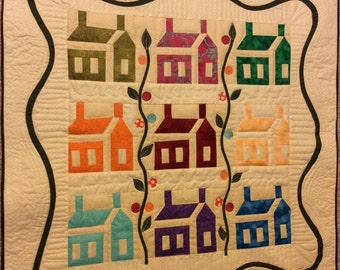 Machine quilted wall hanging **Sold**