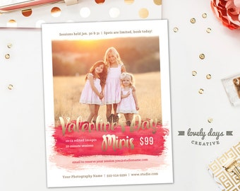 Valentine's Day Mini Session Template, Valentine's Mini Session Marketing Board, Photography Marketing Templates