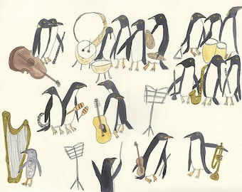 Unorganized Orchestra.  Limited edition print by Vivienne Strauss.