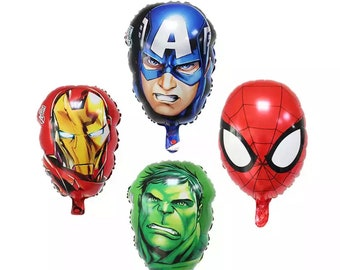 4 Avengers Balloons | Iron man | Hulk | Captain America | Spiderman