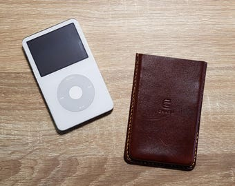 iPod Classic Leather Case Handmade Hand Stitched