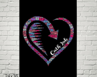 Cath Lab Heart Poster